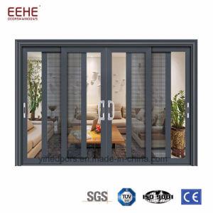 Portelli scorrevoli di vetro di alluminio di vetro bassi di E, portello scorrevole resistente residenziale