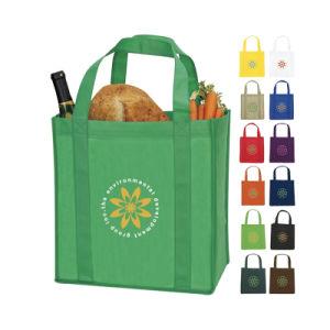 Diseño sin MOQ baja y ejemplos no tejido de polipropileno personalizadas bolsas de supermercado de compras para la promoción