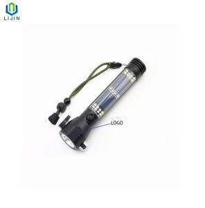 Solar multifuncional Linterna de emergencia linterna de Martillo de seguridad