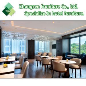 주문화 호텔 대중음식점 식당 바 다방을%s 현대 나무로 되는 금속 직물 가죽 테이블 의자 가구