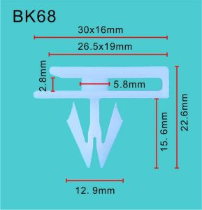 Berufs- Standardbefestigungsteil-Nylonselbstbefestigungsteil-u. Plastikclip u. Selbstersatzteil-Innenraum-Teile