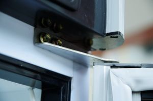 Haute qualité porte simple vitrine verticale
