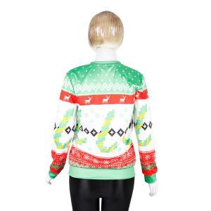 디자인 크리스마스 선물을%s 방풍 자카드 직물 스웨터 편물