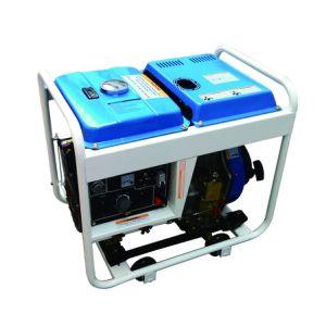 4.5kw 열린 구조 공기에 의하여 냉각되는 휴대용 디젤 엔진 발전기