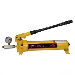 L'acier à simple effet de la pompe hydraulique manuelle