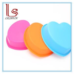 Bakeware molde para hornear en forma de corazón, de silicona molde Chocolate caramelos gomosos