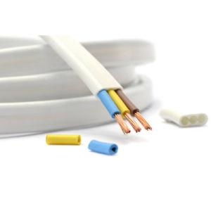 O PVC 2,5mm Insualted Televisão Twin e cabo do fio de massa 300/500V