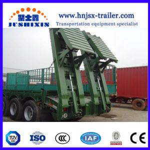 Heißer Bett-LKW-halb Schlussteil des Verkaufs-100ton 3axles niedriger für schwere Maschinerie-Transport