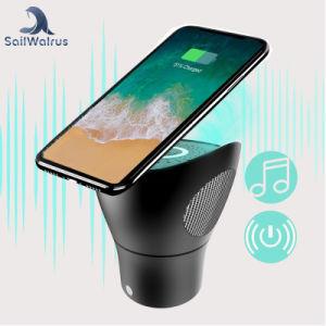Qi Diente Azul el altavoz cargador inalámbrico de banda de Banco de potencia para teléfono móvil