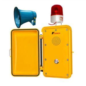 Os telefones de ferro na Estrada de emergência telefone telefone robusto