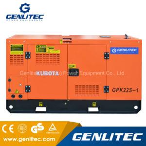 60Hz generatore diesel silenzioso di monofase 22kVA/22kw con il motore del Giappone Kubota