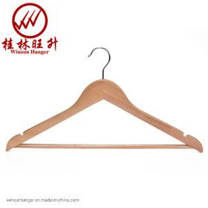Vêtements solides adulte naturel Hanger Winsun hangar en bois personnalisé