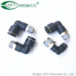 Pivote de codo macho L empuje neumático para conectar el adaptador