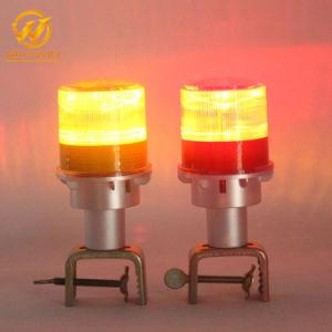 販売のトラフィックの円錐形のアルミニウムバリケードのための防水太陽LEDの自動点滅装置の警報灯