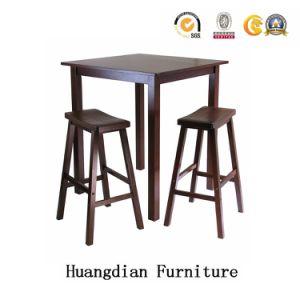 Оптовая торговля клуб мебель цельной древесины ног бар стол и стул (HD718)