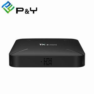 メディアプレイヤーのインターネットTVを流すボックスインターネットのテレビの上ボックスTx3小型L S90W 1g 8gは2018最もよくスマートなTVボックスアンドロイド7.1を受け取る