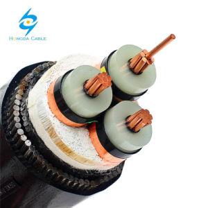 12.7 / 22kv cabo elétrico de Média Tensão 185mm2 95mm2 Cu cobre XLPE cabo subterrâneo