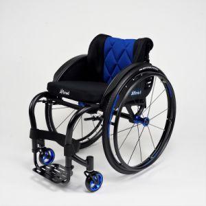 Fibra de carbono activo deportivo ligero silla de ruedas