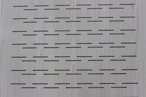 Carte perforée acoustique de plaques de plâtre