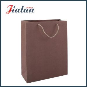 Papier de couleur unie shopping de luxe sacs-cadeaux de transporteur