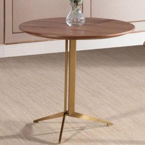 金の終わりの木製の上部表の一定のネスティングコーヒーテーブル