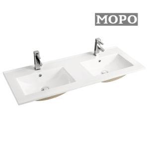 浴室の陶磁器の二重キャビネットの洗面器