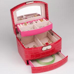 سوداء [بو] جلد [جولري بوإكس] هبة يعبّئ صندوق منام صينيّة يعبّئ صندوق
