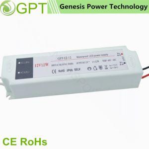 12W 12V DC resistente al agua Modo de conmutación de transformador de alimentación del controlador de LED, Salida Única fuente de alimentación de CA CC exterior IP67 para Tira de luz LED