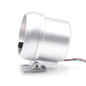 3.75 pulgadas de fibra de carbono 0-8000 rpm rpm tacómetro manómetro automático de luz blanca