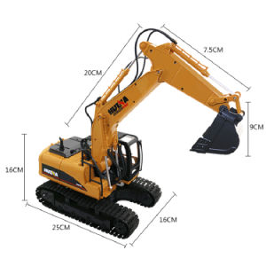 15 canaux électrique Construction métallique en alliage de jouet Mini pelle Chariot RC RC véhicule voitures jouets Modèle moulé