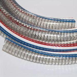 Venda superior interior suave do PVC alimentar de borracha reforçado com fio de aço