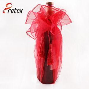 La máxima calidad promocionales baratos lindo mini botella de vino de la Bolsa de Organza