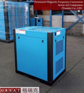 常置磁気頻度調節可能な二重ねじ回転式圧縮機