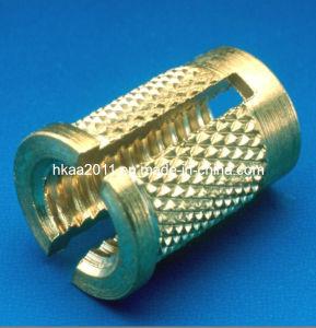 Le CNC en laiton à tête fendue personnalisés Insérez un écrou de blocage moleté