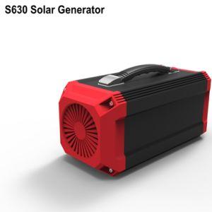 المحمولة بطارية ليثيوم شاحن مولد مع لوحة للطاقة الشمسية 50W