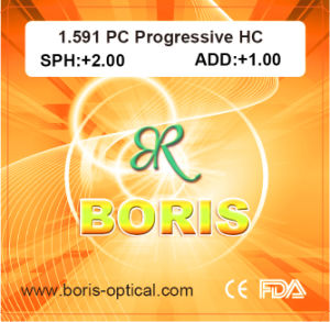 Lentes de policarbonato 1.591 PC HC progressiva lentes ópticas