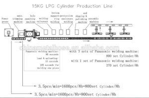 機械腕を搭載する自動LPGシリンダーハンドルの溶接機