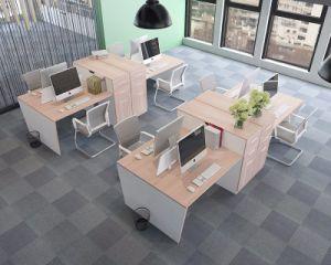 Deux personnes mdf table d ordinateur de bureau avec le cabinet