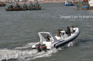 Liya 7.5mのガラス繊維の膨脹可能な肋骨の漁船の漁船の肋骨のボート