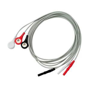Просто получить актуальную ЭКГ по стандарту DIN 1,5 мм 3 ГРП ЭКГ ЭЭГ стопорного кабеля