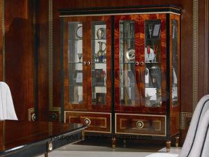 0068 Bois massif recouvert de placage de luxe Brillant Showcase