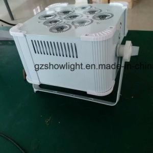 9pcs 18W 6en1 PAR LED de Batería recargable de luz y conexión inalámbrica a la luz de par plana DMX