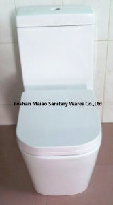 Водяной знак Австралии ванные комнаты влаги из одного куска керамические Geberit Toliet с водой (1036)