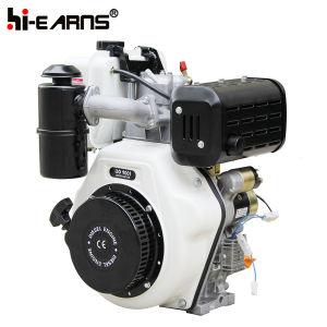 12HP het Elektrische Begin van de dieselmotor met de Schacht van de Spiebaan (HR188FA)