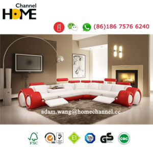 Mobília moderna sala de estar sofá de Reclinação couro italiano (HC2002)