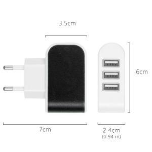 Triple de la UE puerto USB Casa De viaje AC Adaptador de cargador de pared cargador USB color caramelo
