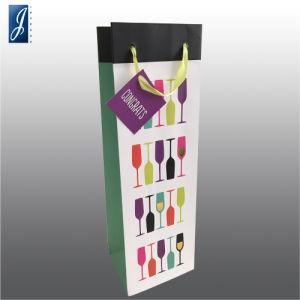 Sacchetto del vino della carta patinata di alta qualità con Tage