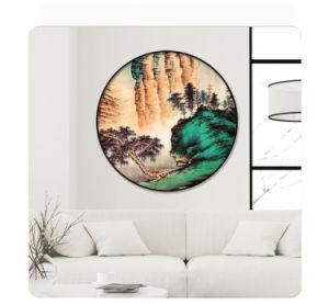 Maschera della tela di canapa di arte della parete della pittura a olio di paesaggio per Decortaion