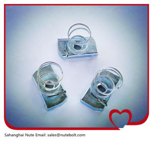 Acier inoxydable 316 (A4) , 304 (A2) , l'écrou de canal d'acier, ressort de l'écrou, avec le ressort court M27