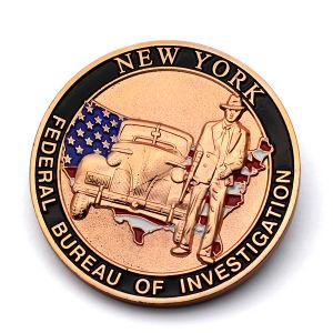 Mayorista de consumibles bañado en cobre antiguo personalizada Memorial Metal chapado de monedas
